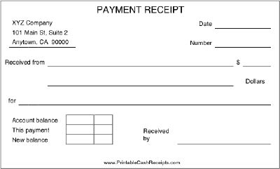 Doc592371 Sample Receipts of Payment Payment Receipt 23 – Receipt Payment