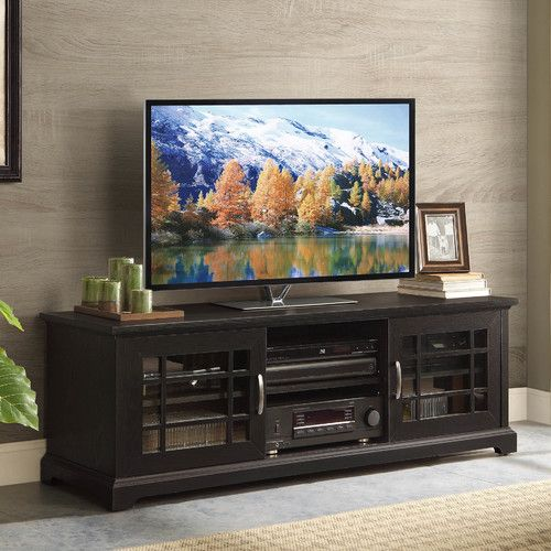 tv console with clean lines and beautiful detail the whalen calistoga 60 in tv console offers convenient storage in high style