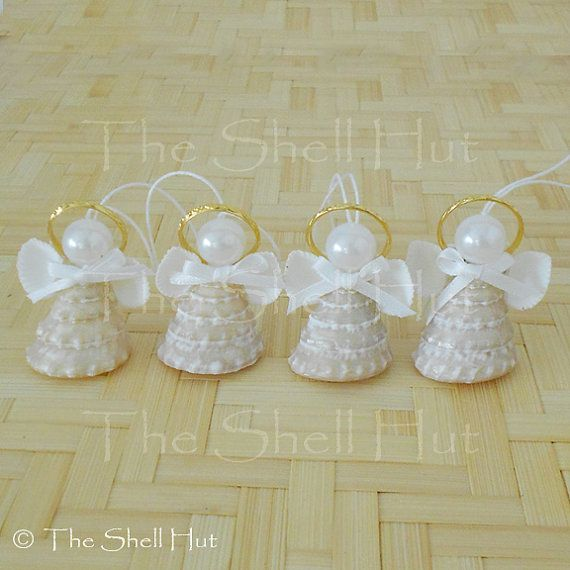 Seashell Angels Real Shell Christmas Party Seaside by shellhut