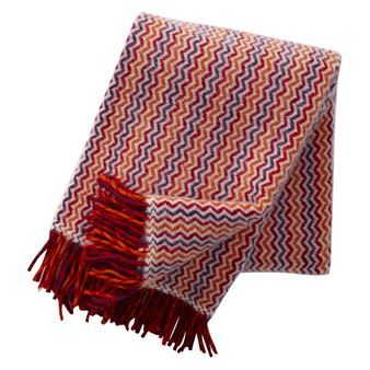 Mosaik is a warm and lovely wool throw made of 100% lambs wool from the Swedish company Klippan Yllefabrik. Available in several lovely colors.