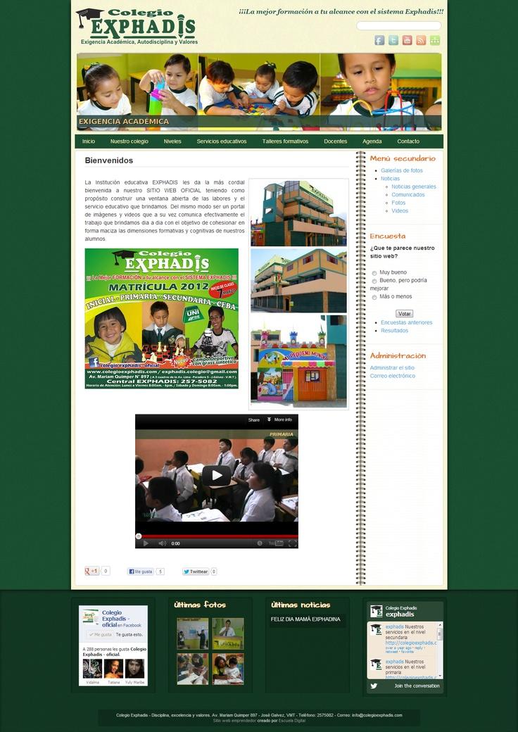Colegio Exphadis - Exigencia académica, autodisciplina y valores.
