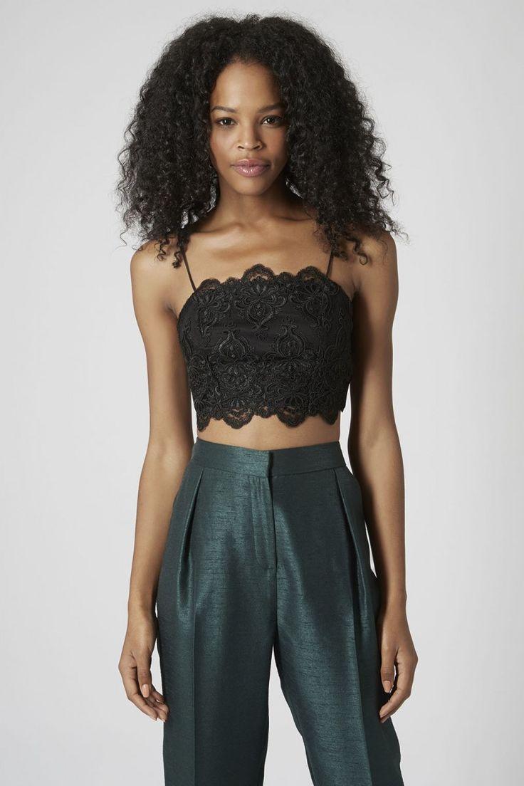 Black Lace Bralette Outfit12