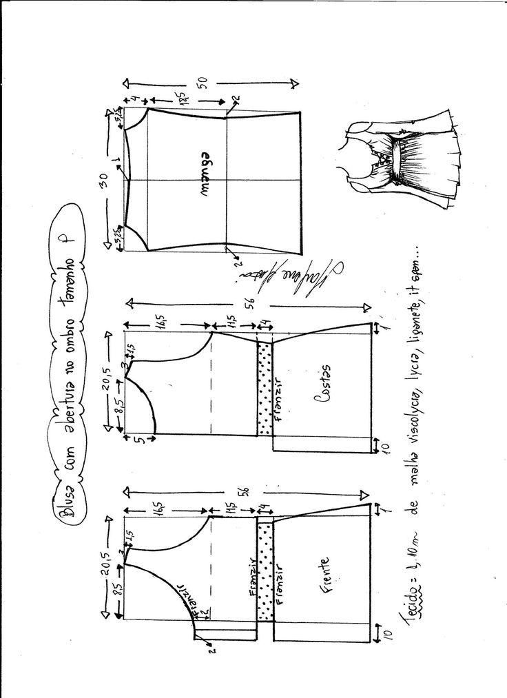 Patrón de esta maravillosa blusa con manga larga y abertura en el hombro. Es una blusa muy bonita e original, genial para todo tipo de tallas y cuerpos. Encontraras Tallas desde la XS hasta la XXXL. Talla XS: Talla S: Talla M: Talla L: Talla XL: Talla XXL: Talla XXXL: Patrón Blusa escote …