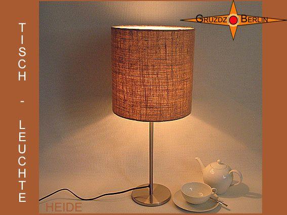 Tischleuchte HEIDE Ø 25 cm Tischlampe Jute natur im Landhausstil. Überzeugend und beeindruckend, natürlich und elegant. Einmalig schön ist die Struktur und Farbe naturbelassener Jute.