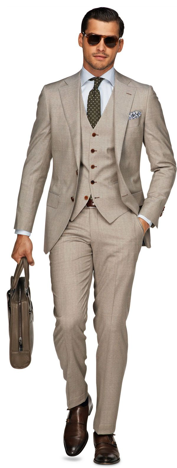Suit Supply-Lazio-Light-Brown | Men's Fashion | Menswear | Men's Outfit for Business | Stylish and Sophisticated | Spring/Summer Style | Moda Masculina para Primavera/Verano | Shop at designerclothingfans.com