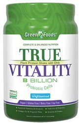 Green Foods True Vitality Plant Protein Shake with DHA Unflavored  227 oz -- Visit the image link more details.