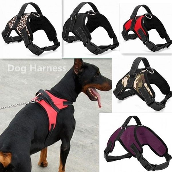 5 Colors New Big Dog Soft Adjustable Harness Pet Oxford Large Dog