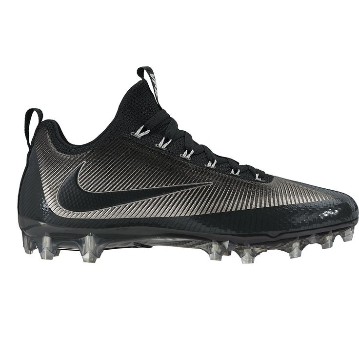 Nike Vapor Untouchable Pro in Black Built for the Most Dynamic Players on the Field Flywire Cables Wrap the Midfoot for Support During Lateral Moves Mesh and Synthetic Skins Create a Breathable Shell.