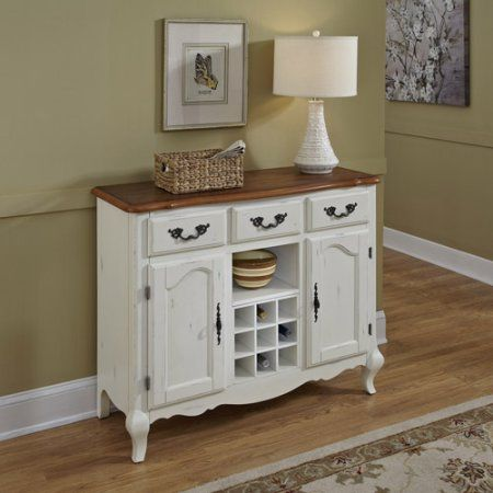 Home Styles French Countryside Oak Buffet Off White Dining BuffetKitchen