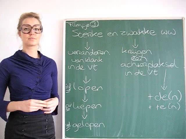 3) Verschil tussen zwakke en sterke werkwoorden