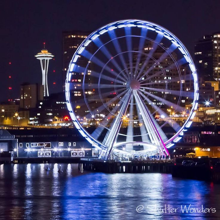 Downtown Seattle's Great Wheel and waterfront.  Image by Shutter Wonders.