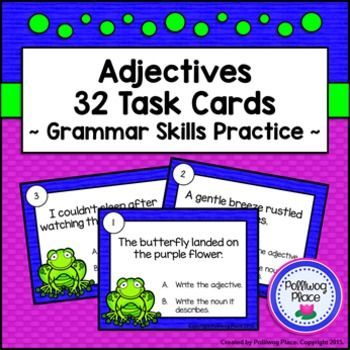 Adjectives Task Cards - Grammar Practice ($)