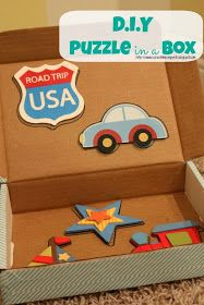 School Time Snippets: DIY Puzzle in a Box {Fine Motor Friday}