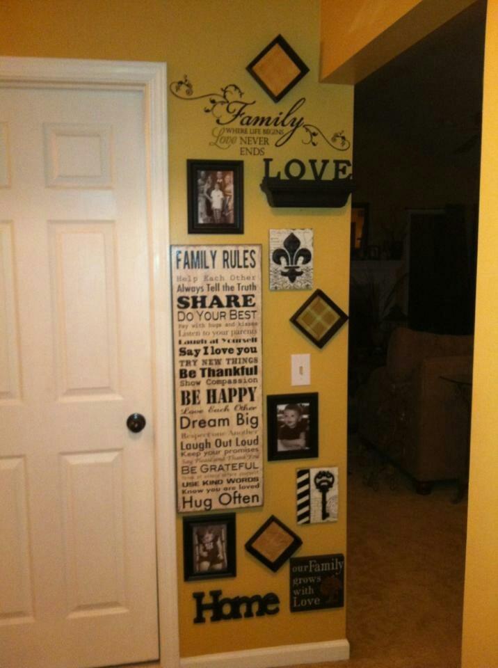 Hallway Wall Decor Pinterest : My newly decorated hallway wall decorating ideas