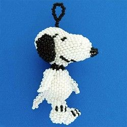 Beaded Snoopy Ornament