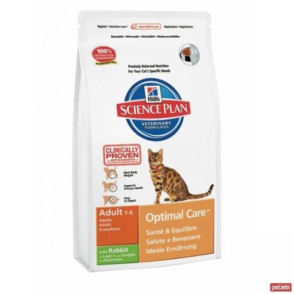 Hill's Adult Optimal Care Tavşan Etli Yetişkin Kedi Maması 2 Kg + 500gr Hediye!