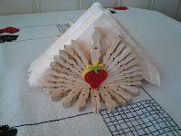 Porta guardanapo feito molas madeira