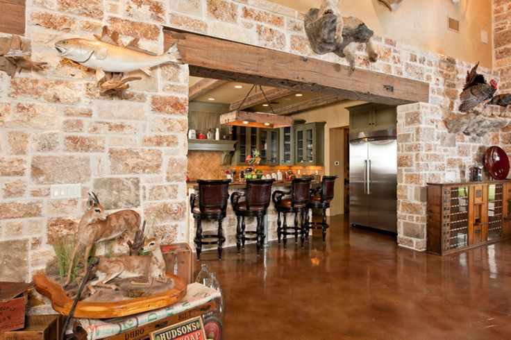 Love the stone dorrway in this converted barn home Blanco Ranch Home | Heritage Restorations