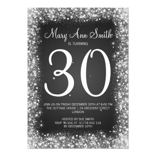Best Taras Th Birthday Bash Images On Pinterest Th - Black and white 30th birthday party invitations