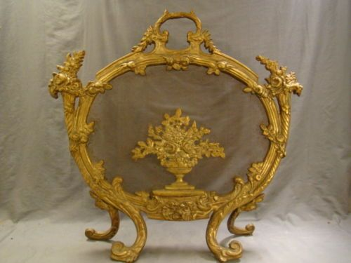 french fireplace screens. 19thC Antique FRENCH Victorian BRONZE FLOWER BASKET Old FIREPLACE 20 best Formal living room Fireplace images on Pinterest