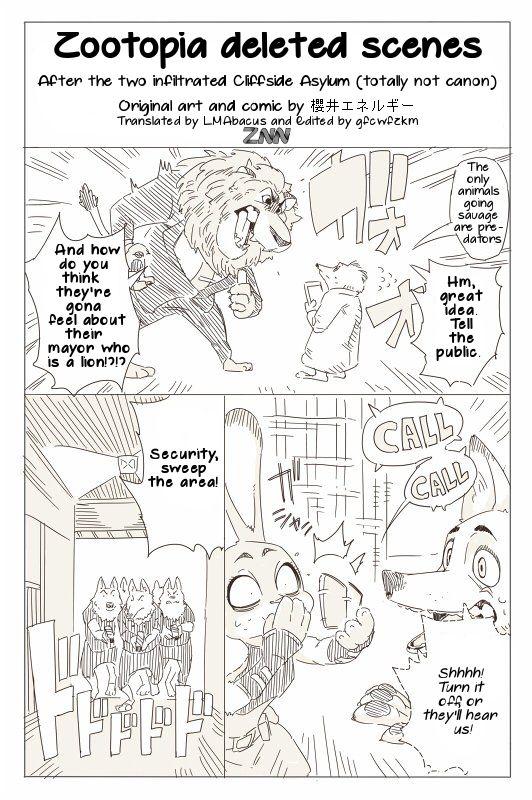 Zootopia News Network: Comic: Zootopia Deleted Scene