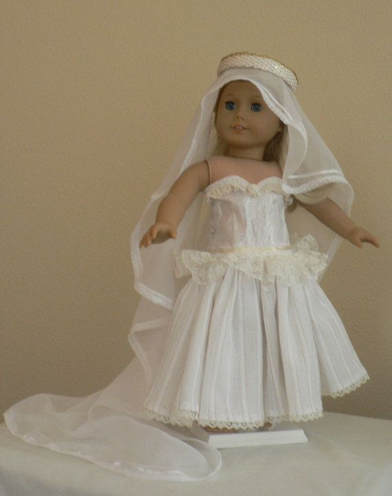 Princess Bride Dress Up fits American Girl 18 inch by dollthreads