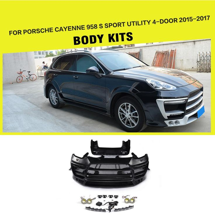 FRP Car Body Kits Bumper Side Skirts Wheel Arch for Porsche Cayenne 958 S Sport Utility 4-Door 2015-2017 Car Styling. Yesterday's price: US $2442.71 (2018.90 EUR). Today's price: US $2100.73 (1736.25 EUR). Discount: 14%.