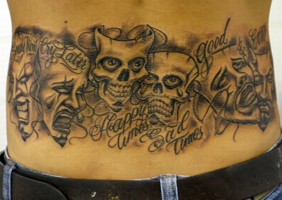 20 Happy Sad And Evil Tattoos Ideas And Designs