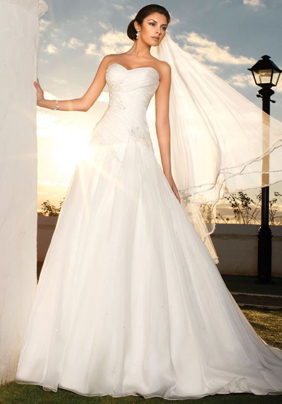 A Line Strapless Sweetheart French Mikado Wedding Dress Style