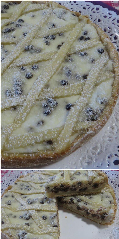 Crostata con ricotta e gocce di cioccolato! #crostata #ricotta #cioccolato #ricettegustose