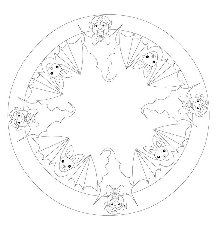 witch mandala coloring pages - photo#8