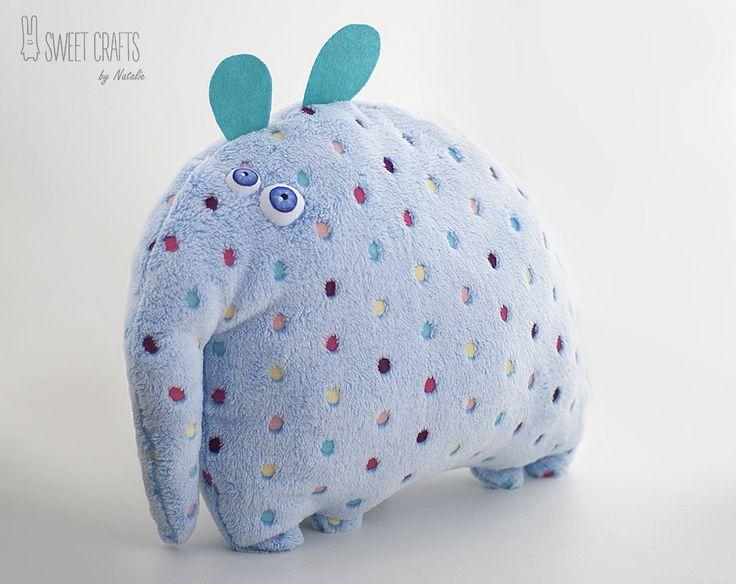 Plush Pillow Toy Elephant, elephant toy, home décor, stuffed elephant, stuffed animal, decorative pillows, nursery decor, pillow pet by SweetCraftsByNatalie on Etsy