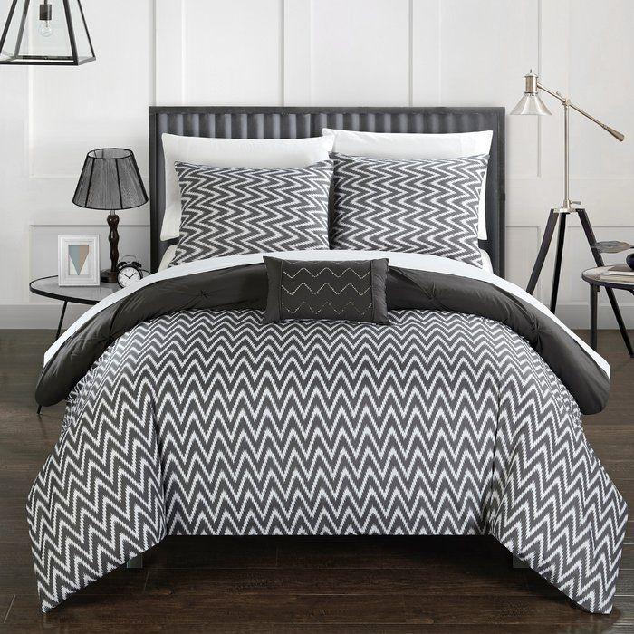 Jacky 8 Piece Comforter Set Grey Comforter Sets Grey Comforter Comforter Sets