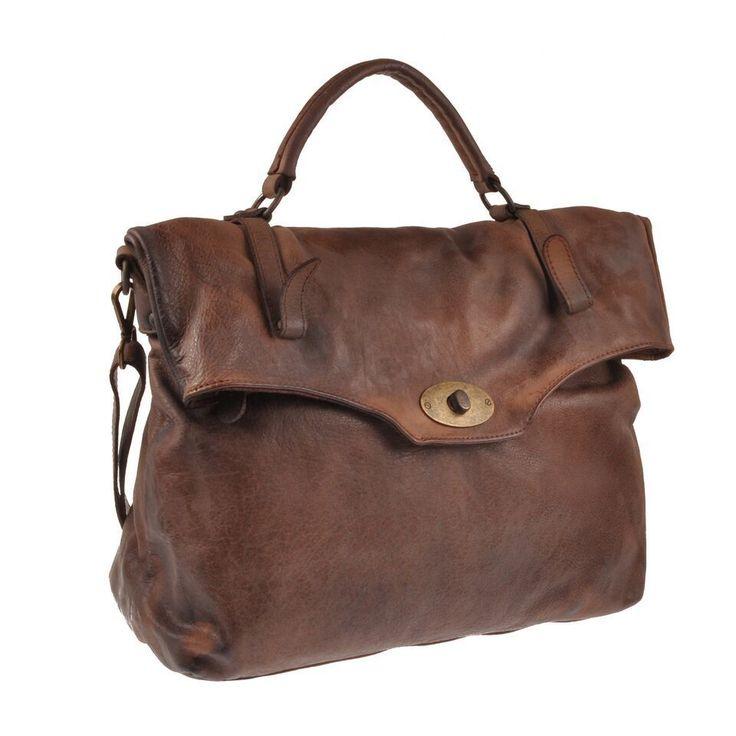 Pellevera borsa uomo donna in pelle lavata a mano e tracolla leather handbag
