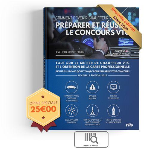 Formation examen VTC: +400QCM et 50 QRC corrigés . Le manuel de reference en vente sur www.concoursvtc.fr