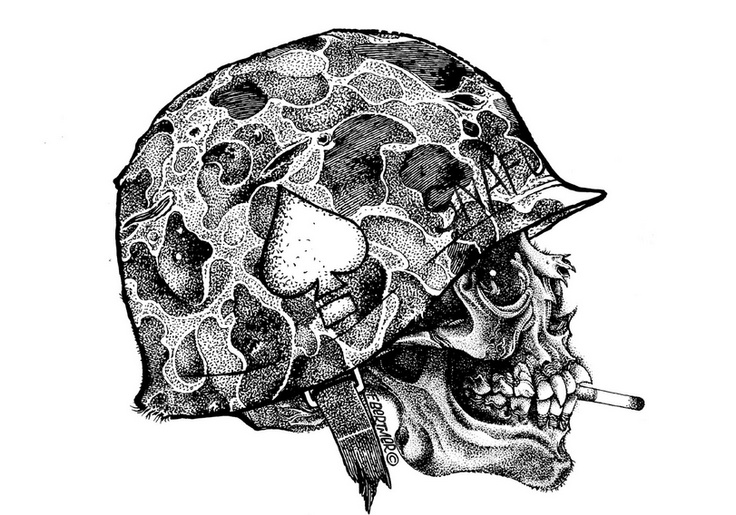Army Skull                                                                                                                                                      Mais