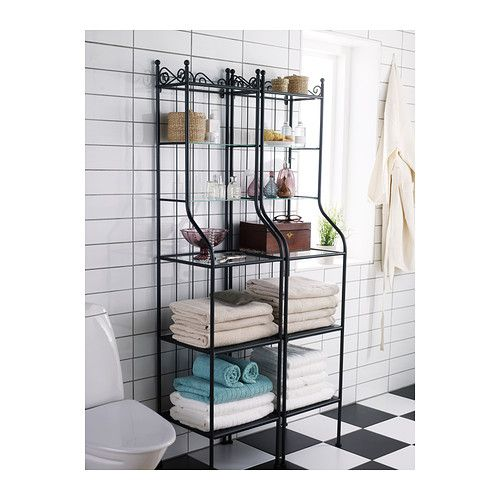 Ikea Ronnskar Black Shelf Unit Apartment Ikea Bathroom