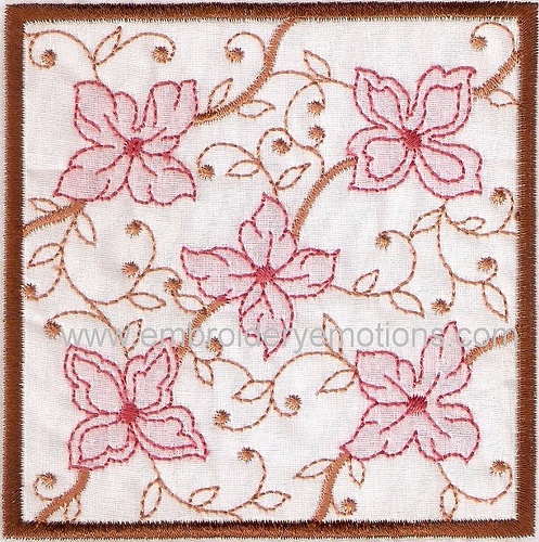 Shadow Work Square Blocks of Embroidery Design