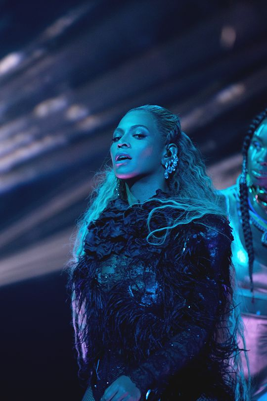 Beyoncé performing at the  MTV Video Music Awards at Madison Square Garden 28th August 2016