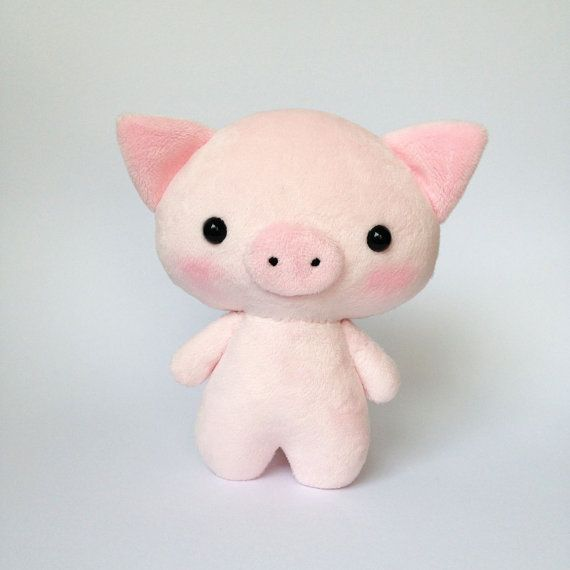 Suffed pig toy - Plush pig - Piglet toy - pig softie - Kawaii pig - pig plushie