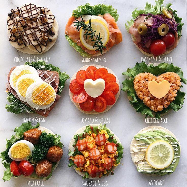 Ayaさん(@aya_m08)のInstagramアカウント: 「Open sandwiches オープンサンドいろいろ ・ ・ おはようございます。 ・ ・ いつかのお食事系パンケーキ。 #やっと蔵出し ・ ・…」