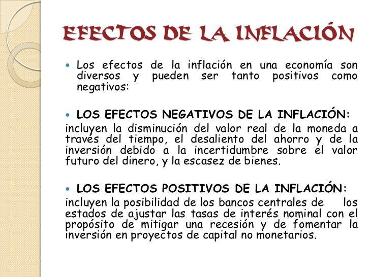 La Inflación. Efectos