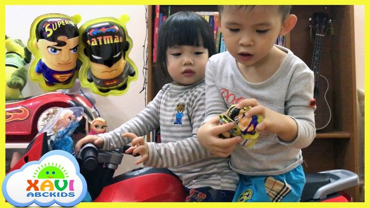 Superman vs Batman surprise eggs babies Boy and Girl Opening Toys Eggs -...
