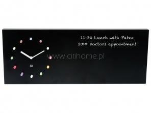 Zegar ścienny KARLSSON Chalkboard czarny  http://www.citihome.pl/zegar-scienny-karlsson-chalkboard-czarny.html