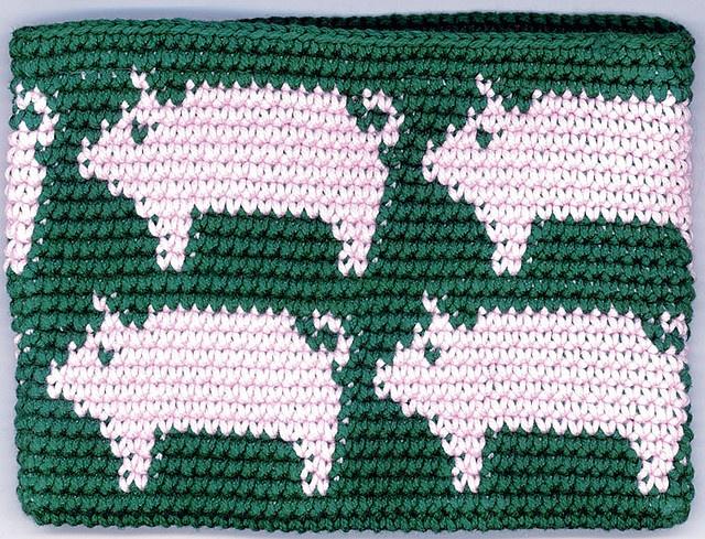 Piggy pattern (Tapestry Crochet Change Purse)