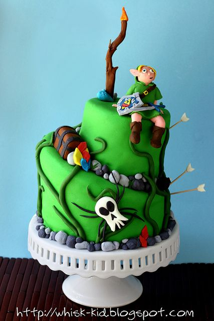 Legend of Zelda Cake, he is a little funny looking but the rest is amazing!