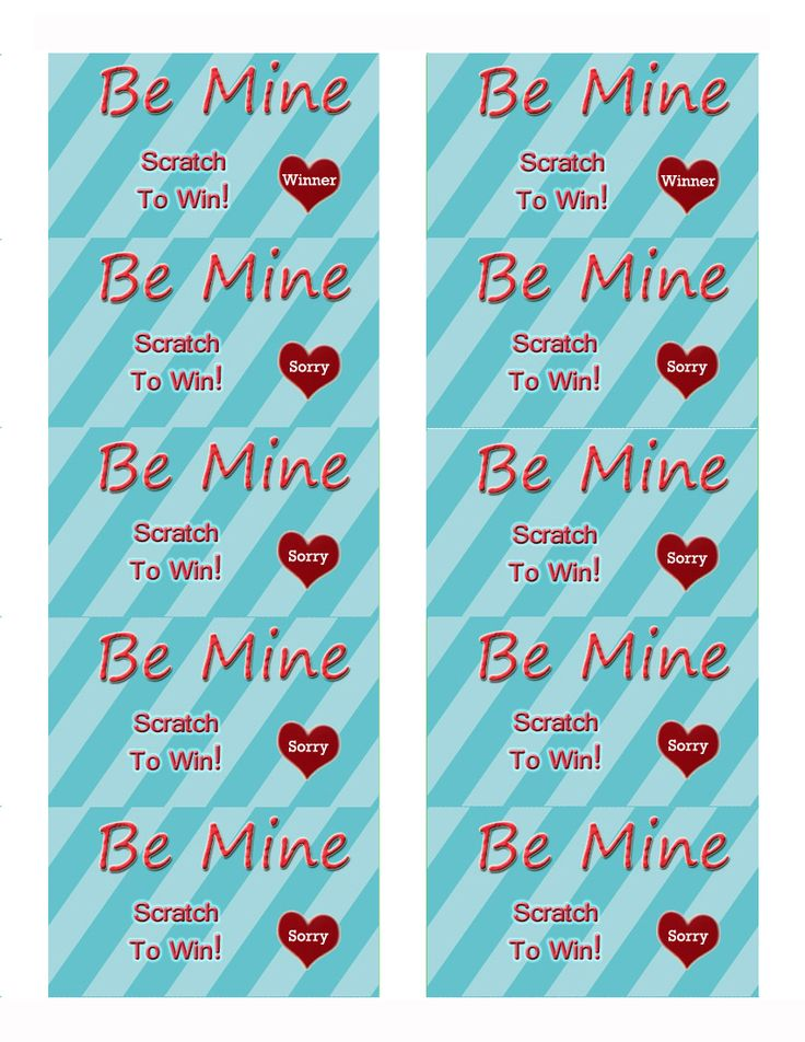 Valentine Scratch Off Template | 7 Best Printable Scratch Off Games Images On Pinterest Stickers