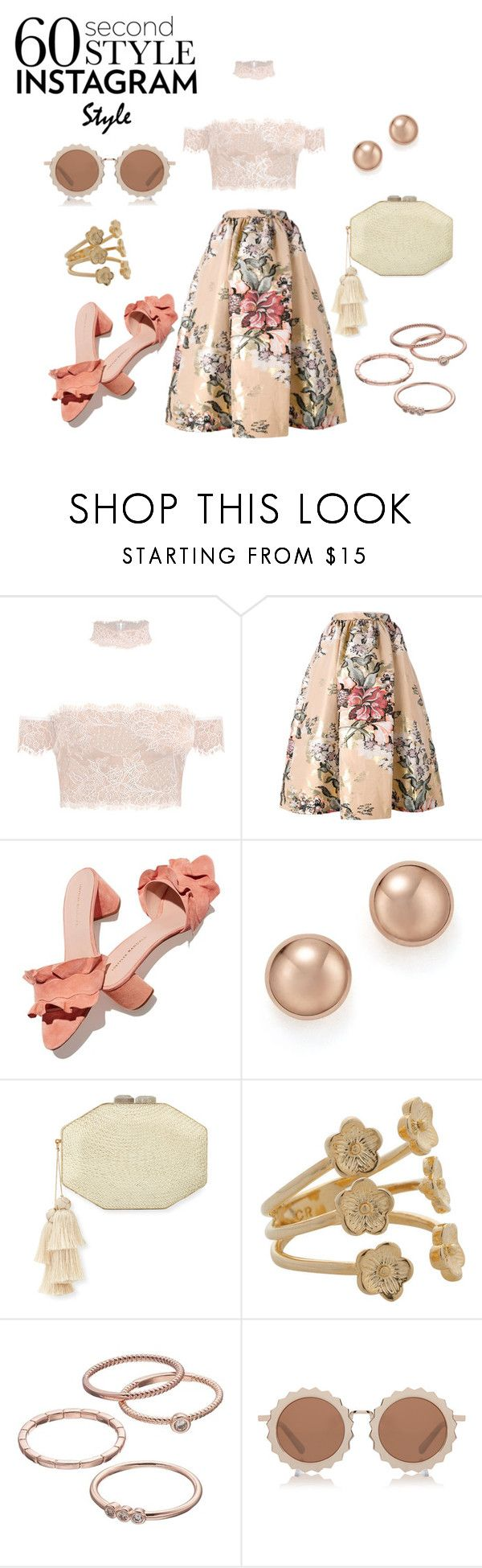 """Floral and Blush"" by sibsandco ❤ liked on Polyvore featuring Fendi, Loeffler Randall, Bloomingdale's, Rafe, David Jones, LC Lauren Conrad, House of Holland, 60secondstyle and PVShareYourStyle"