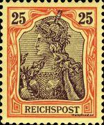 25 Pfennig - Michel Nr. 58 - Stamp Values: * 21€ / Ø 8€