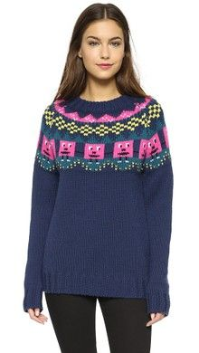 Mira Mikati Rainbow Sleeve Sweater   SHOPBOP